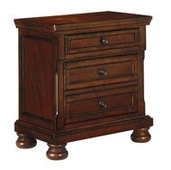 Porter Rustic Brown Two Drawer Night Stand
