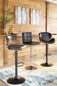 Adjustable Height Upholstered Swivel Barstool