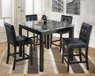 Maysville Black Square Counter Table Set