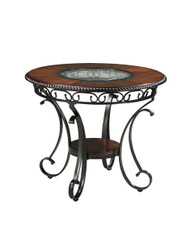 Glambrey Brown Round Dining Room Counter Table