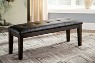 Haddigan Dark Brown Large Upholstered Dining Room Bench