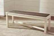Bolanburg Antique White Large Upholstered Dining Room Bench