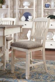 Bolanburg Antique White Upholstered Barstool