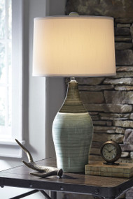 Niobe Multi Gray Ceramic Table Lamp