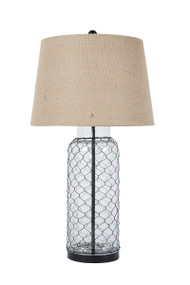 Sharmayne Transparent Glass Table Lamp