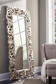 Lucia Antique Silver Finish Accent Mirror
