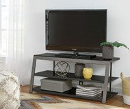 Rollynx Black TV Stand
