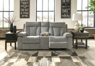 Mitchiner Fog Double Reclining Loveseat w/Console
