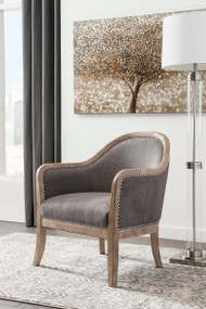 Engineer Brown Accent Chair