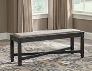 Tyler Creek Black/Gray Upholstered Bench