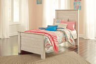 Willowton Whitewash Twin Panel Bed