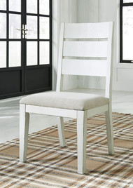 Grindleburg Antique White Dining Upholstered Side Chair