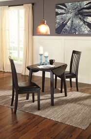 Hammis 3 Pc. Round Drop Leaf Dining Set