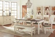 Bolanburg Antique White 10 Pc. Rectangular Dining Set