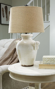 Emelda Cream Ceramic Table Lamp (1/CN)