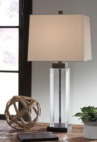 Alvaro Clear/Bronze Finish Glass Table Lamp