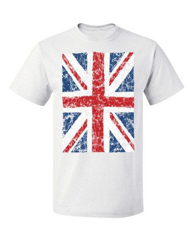 Union Jack British Flag T-Shirt, white