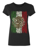 Mexican Flag Ladies T-Shirt, black