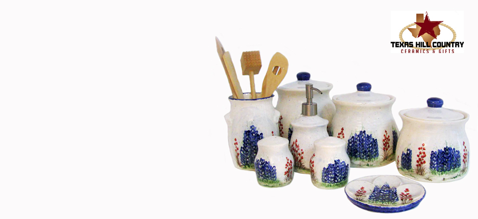 Texas kitchen decor hand made in Texas   Texas Hill Country Ceramics