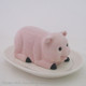 Pink pig butter dish by Texas Hill Country Ceramics