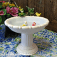 Birdbath soap dish with little ceramic birds