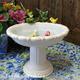 Birdbath soap dish with little ceramic birds
