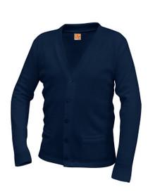 Sweater Cardigan with Pocket Bu V-Neck
