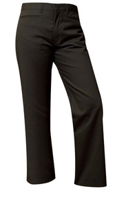 Mid-Rise Flat Front Girls Pant Half Size