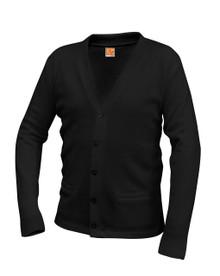 Cardigan with Pocket Bu V-Neck  Sweater