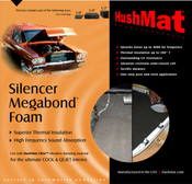 "HushMat Silencer Megabond - 1/2""  - #20300"