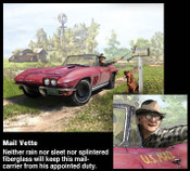 "Danny Johnson Automotive Art ""Mail Vette"""