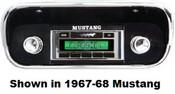 Custom AutoSound 1967-73 Mustang USA-630 In Dash AM/FM