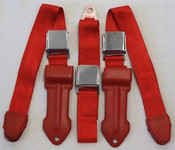1964-1967 Mopar A Body Bench Seat Lap Belts 1