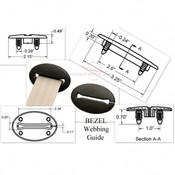 Seatbelt Planet Bezel Webbing Guide - Black 1
