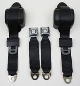 3pt Seatbelt w/Metal Starburst Buckle Style