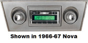 Custom AutoSound 1973-76 Nova USA-630 In Dash AM/FM