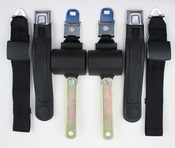 1971-1974 Mopar B Body Manual Shoulder/Lap Seat Belts 1