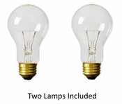 Twin Pack 75 Watt Incandescent Lamps (Clear) NC/75A19CL2