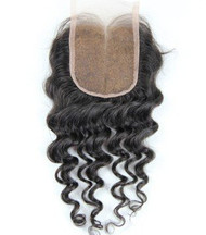 French Lace with Center Part Wavy Hair