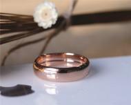 New Design Men Wedding Band Solid 14K Rose Gold Ring Plain Band Wedding Ring Stackable
