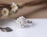 6mm Cushion Brilliant Moissanite Engagement Ring Solid 14K White Gold Diamonds Moissanite Ring