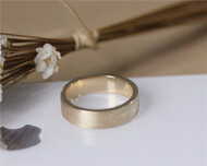 Vintage Men Wedding Ring Solid 14K Yellow Gold Plain Band Wedding Ring Stackable Men Engagement