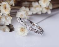 Natural Diamond Wedding Band Milgrain Bezel Solid 14K White Gold Diamond Engagement Band