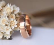 Men Wedding Band Solid 14K Rose Gold Plain Band Wedding Ring Stackable Men Band