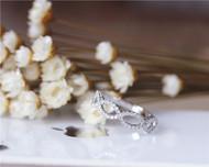 Unique Half Eternity Natural Diamond Band Solid14K White Gold Diamond Engagement/ Wedding Band