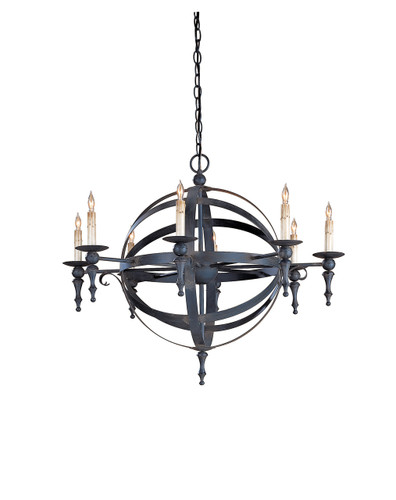Armillary sphere chandelier by currey company laurel at sunset inc image 1 mozeypictures Images