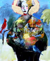 Big Leaves and Birds Geisha
