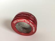 GasGas spark arrestor end cap, red, front