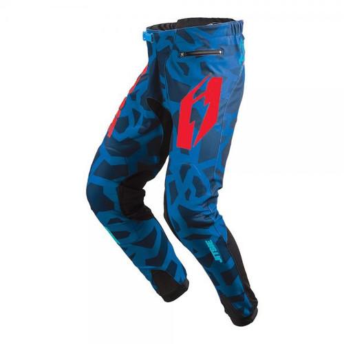 Jitsie Pants T3 Kroko blue/ red/ teal