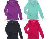 NEW PUMA WOMEN'S ATHLETIC LEISURE HOODIE LONG SLEEVE V-NECK
